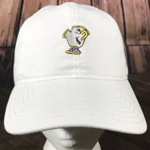 """Disney Beauty and the Beast """"CHIP"""" Dad Hat Velcro"""